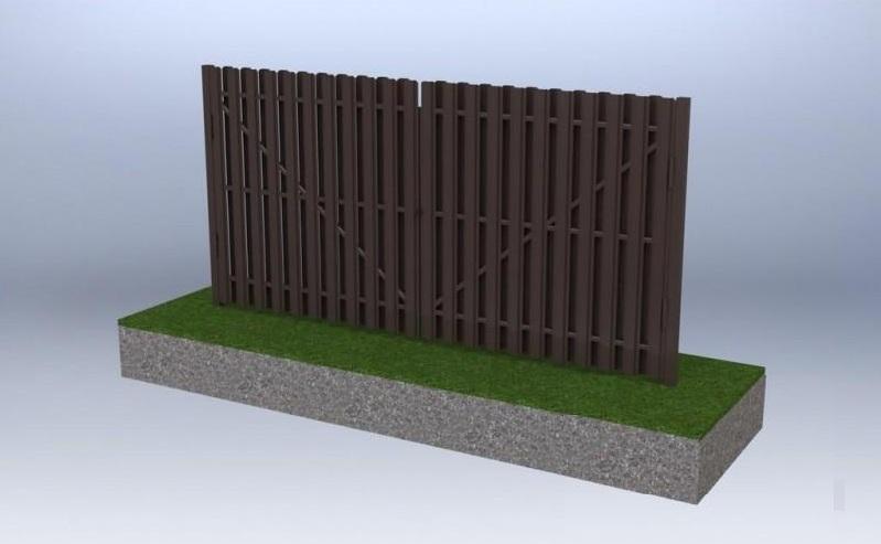 Распашные ворота с двухсторонним заполнением
